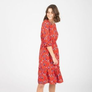 Piper & Scoot Morgan Floral Ruffle Dress in Poppy